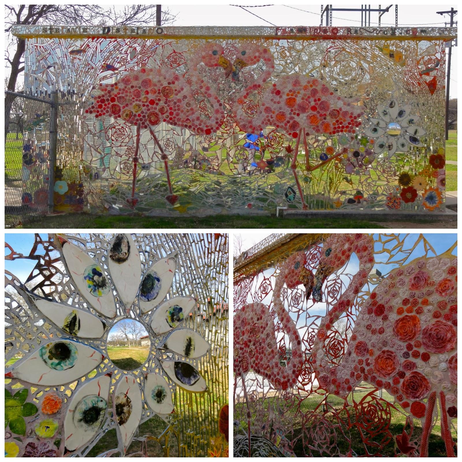 Austin Mural Flamingo Mitote: Patterson Park, 4200 Brookview