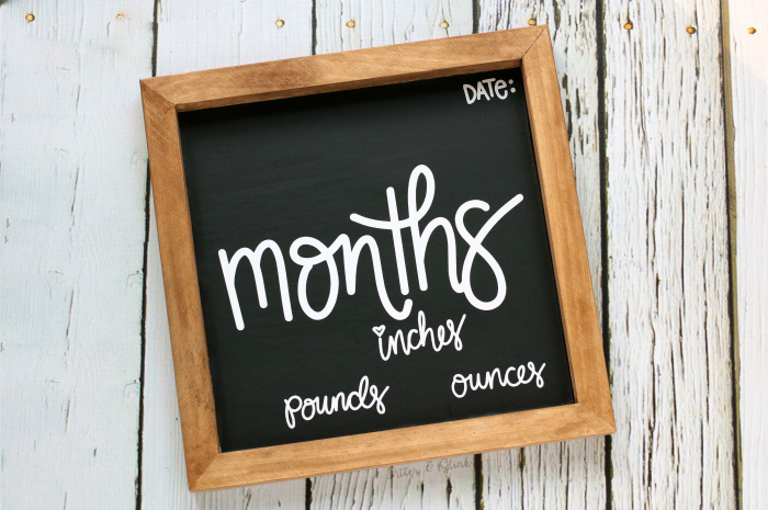 DIY Baby Photo Prop Chalkboard Month Sign