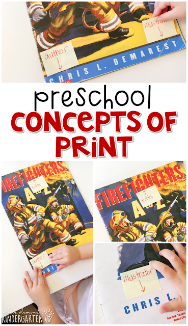 Practice concepts of print with this perfect fire safety picture book. Great for tot school, preschool, or even kindergarten!