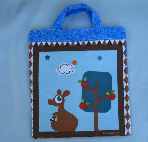 Little Shopper Tote with Australian Animals ~ Threading My Way