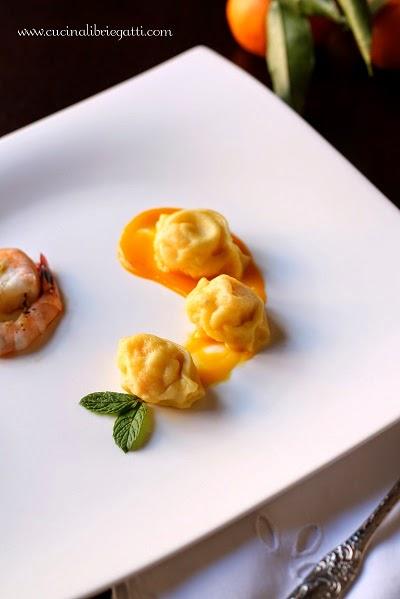 ravioli gamberi mandarino ricetta