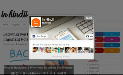 Blogger Me Facebook Popup Like Box Widget Kaise Add Kare