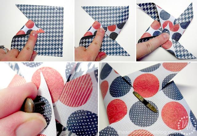 Patriotic Pinwheels folding and binding