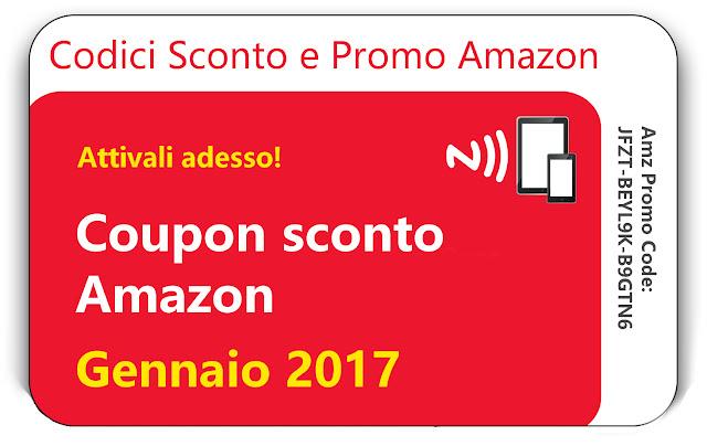CODICI SCONTO AMAZON GENNAIO 2017