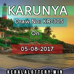 Karunya KR305, 5/8/17, Kerala Lottery results today