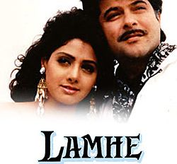 Poster Of Bollywood Movie Lamhe (1991) 300MB Compressed Small Size Pc Movie Free Download worldfree4u.com