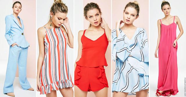 Moda primavera verano 2018: monos, trajes, blusas y vestidos primavera verano 2018. Ropa de Mujer Becci. Moda 2018.