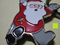 vorne: Hochwertiger weihnachtlicher Schlüsselanhänger