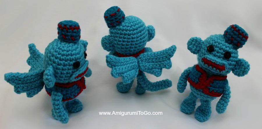 Flying Sock Monkey Amigurumi To Go