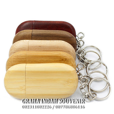 usb wood flashdisk kayu oval promosi murah