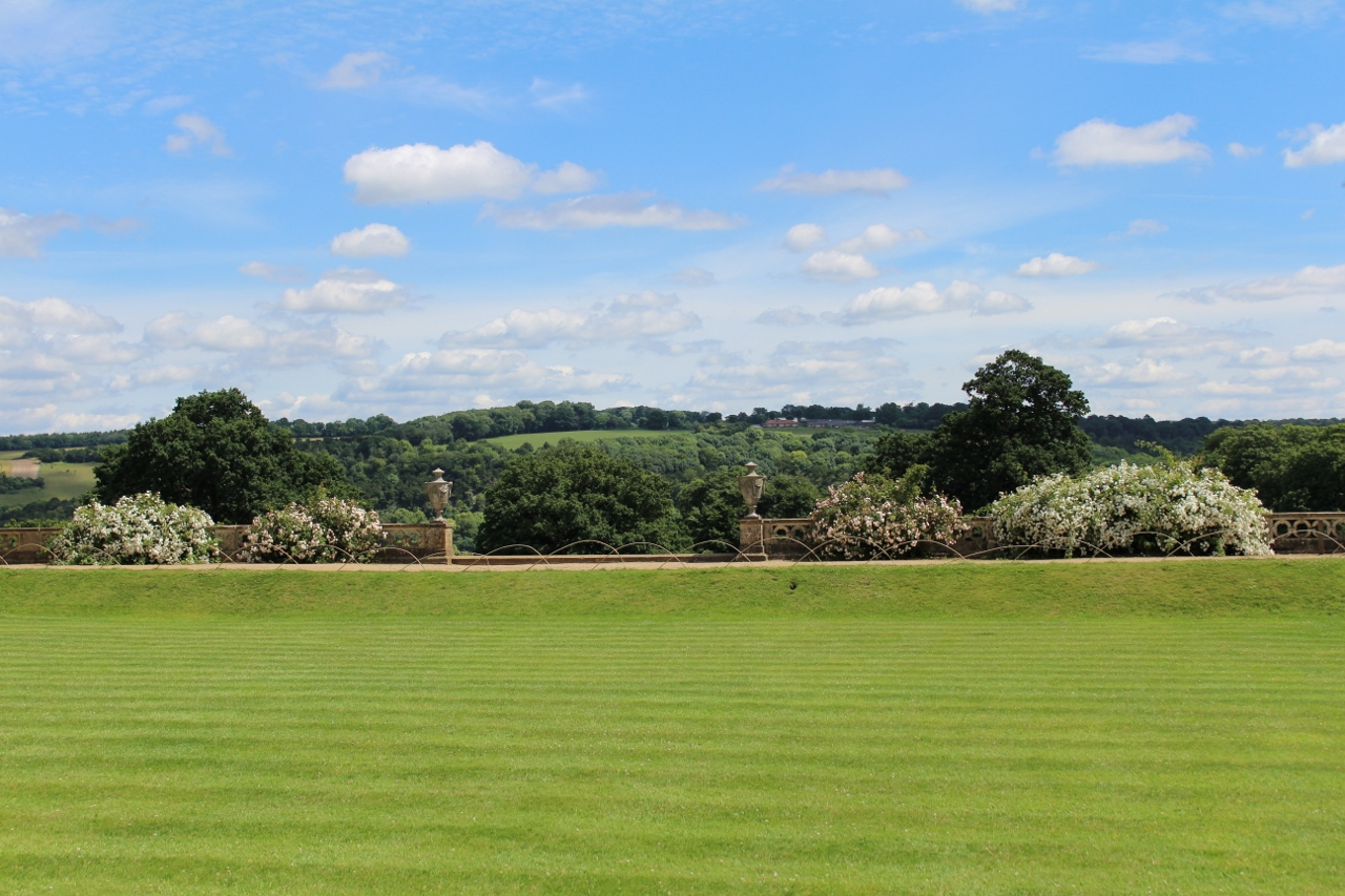 Berkshire countryside from the gardens at Basildon Park