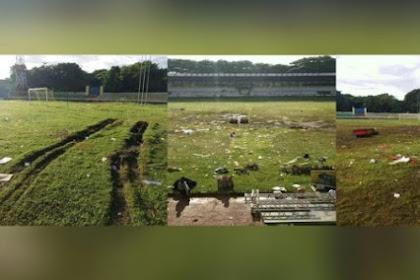 Begini Kondisi Miris Stadion Maulana Yusuf Usai Kampanye Akbar Pertama Pasangan 01