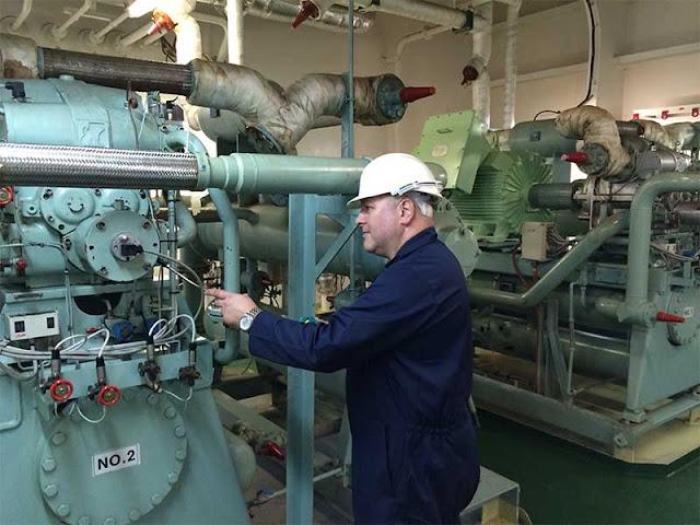 Reefer (refrigeration) ship system, Working and cargo Refrigeration