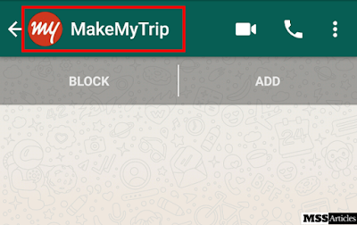 WhatsApp Chat Screenshot when I click on the given link in this article