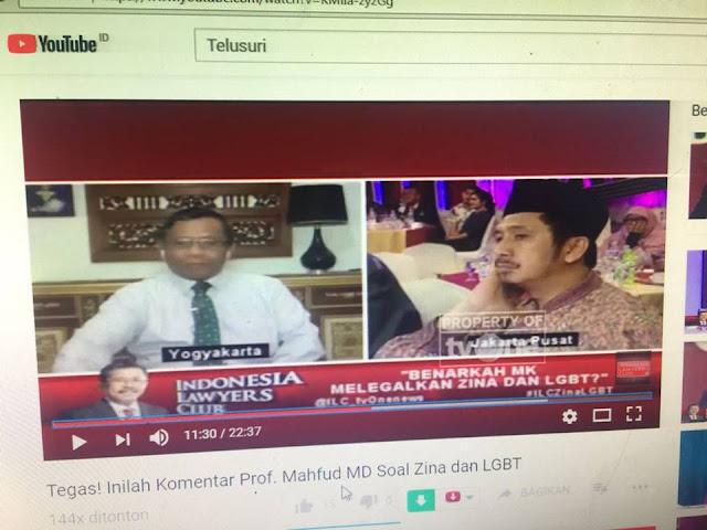 Mahfud MD Patahkan Pernyataan Zaitun Rasmin yang Sebut MK tidak Konsisten