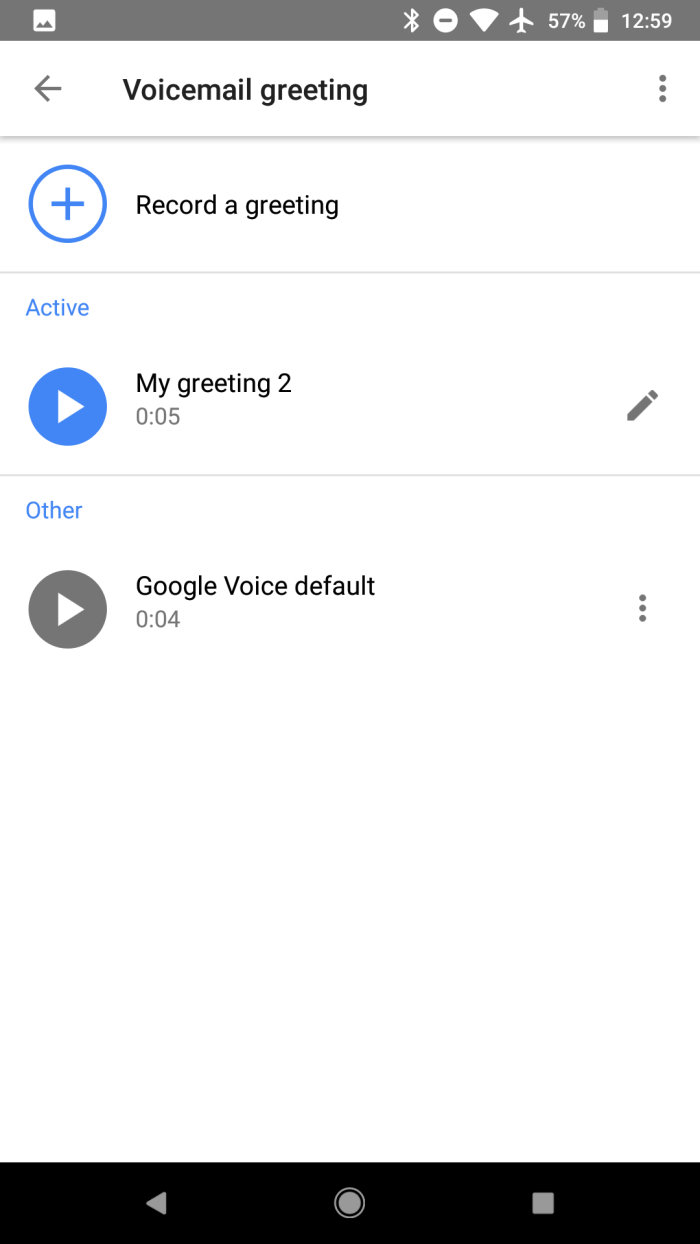 Google Voice Adds Ability To Record Voicemail Greetings On Android