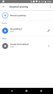Google Voice record voicemail on Android
