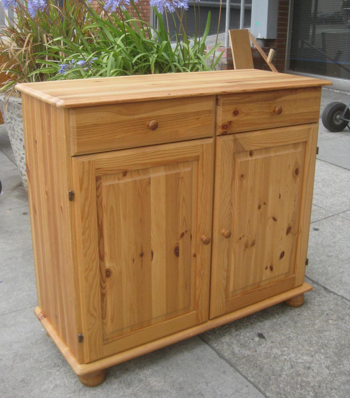 Pine Kitchen Cabinet: UHURU FURNITURE & COLLECTIBLES: SOLD