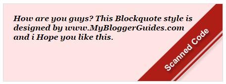 Blogger Blockquote Style 11