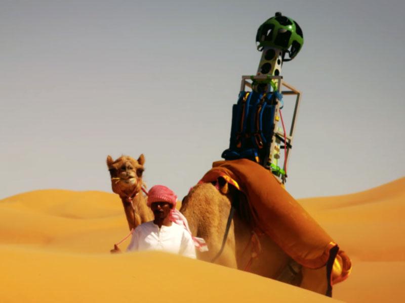 "Google mempekerjakan Unta untuk membuat ""Street View"" di gurun"