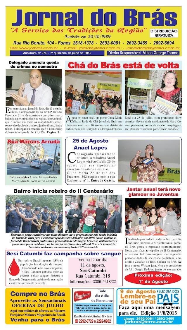 Destaques da Ed. 276 - Jornal do Brás