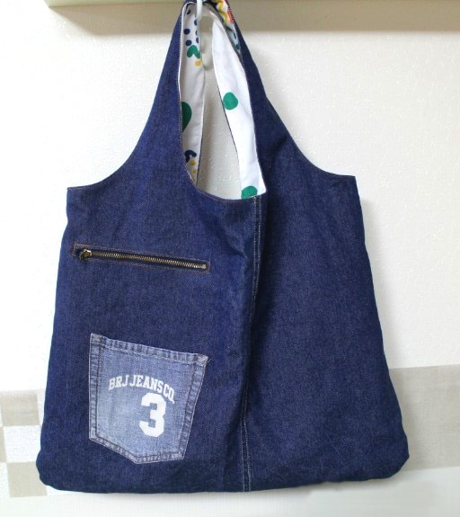 How to sew a bag for shopping of old jeans. Photos sewing instructions. e28e7d6eac6ac