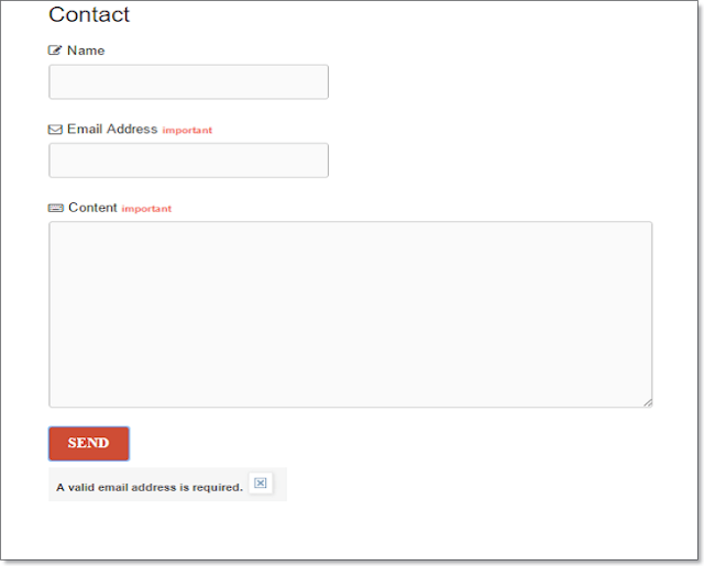 stylish contact form for blogger