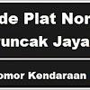 Kode Plat Nomor Kendaraan Puncak Jaya