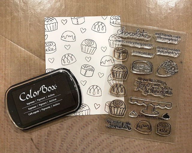 Stamped Background Paper and choosing colors for images - Juliana Michaels