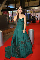 Raashi Khanna in Dark Green Sleeveless Strapless Deep neck Gown at 64th Jio Filmfare Awards South ~  Exclusive 161.JPG