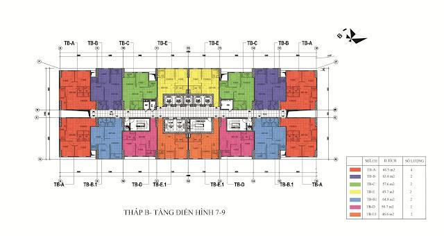 Mặt bằng thiết kế chung cư Intracom 8 Vĩnh Ngọc - Riverside