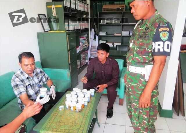 Perangi Narkoba, Kodim 0615/Kuningan Lakukan Tes Urin Pada Anggotanya