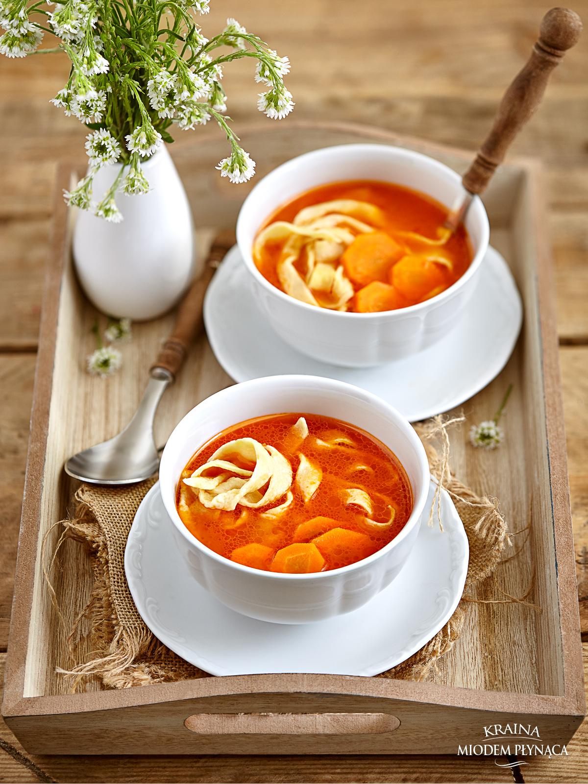 zupa pomidorowa ze świeżych pomidorów, zupa ze świeżymi pomidorami, pomidorówka z pomidorów, kraina miodem płynąca