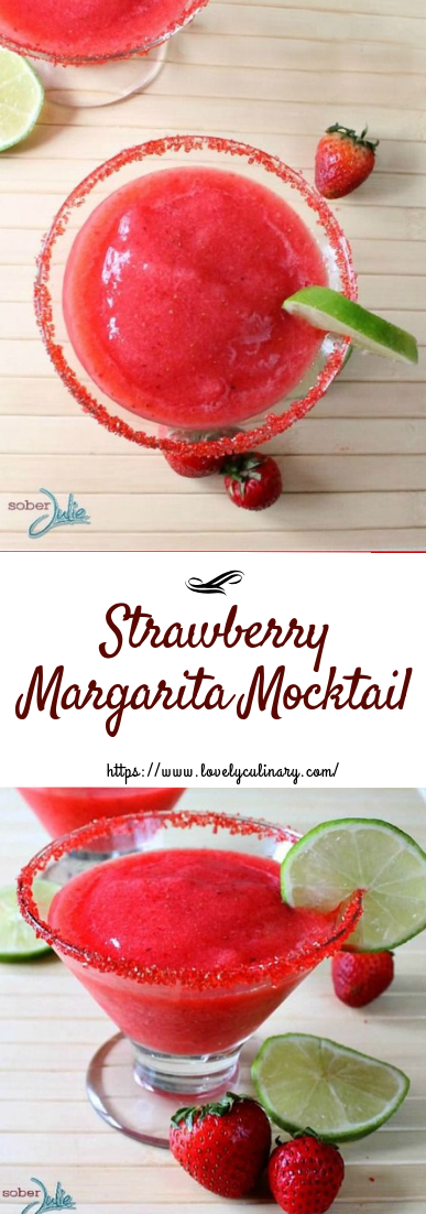 Strawberry Margarita Mocktail #cocktail #recipeeasy#drinks