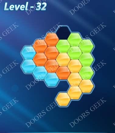 Block! Hexa Puzzle [Intermediate] Level 32 Solution, Cheats, Walkthrough for android, iphone, ipad, ipod