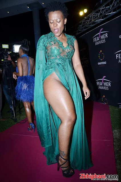 South African musician Zodwa Wabantu goes pantless at 2017 Feather Awards held last night (SEE PHOTOS)