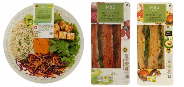 vegan lunch on the go options from M&S