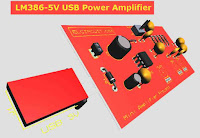 USB Powered Audio Power Amplifier using LM386 include tone control circuit