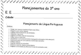 Planejamento anual 3º ano