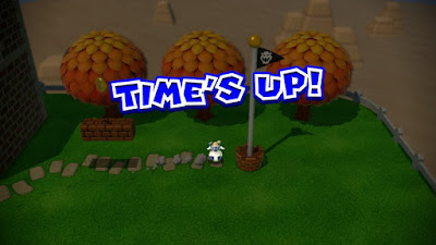 Super Mario 3D World Time's up flag pole