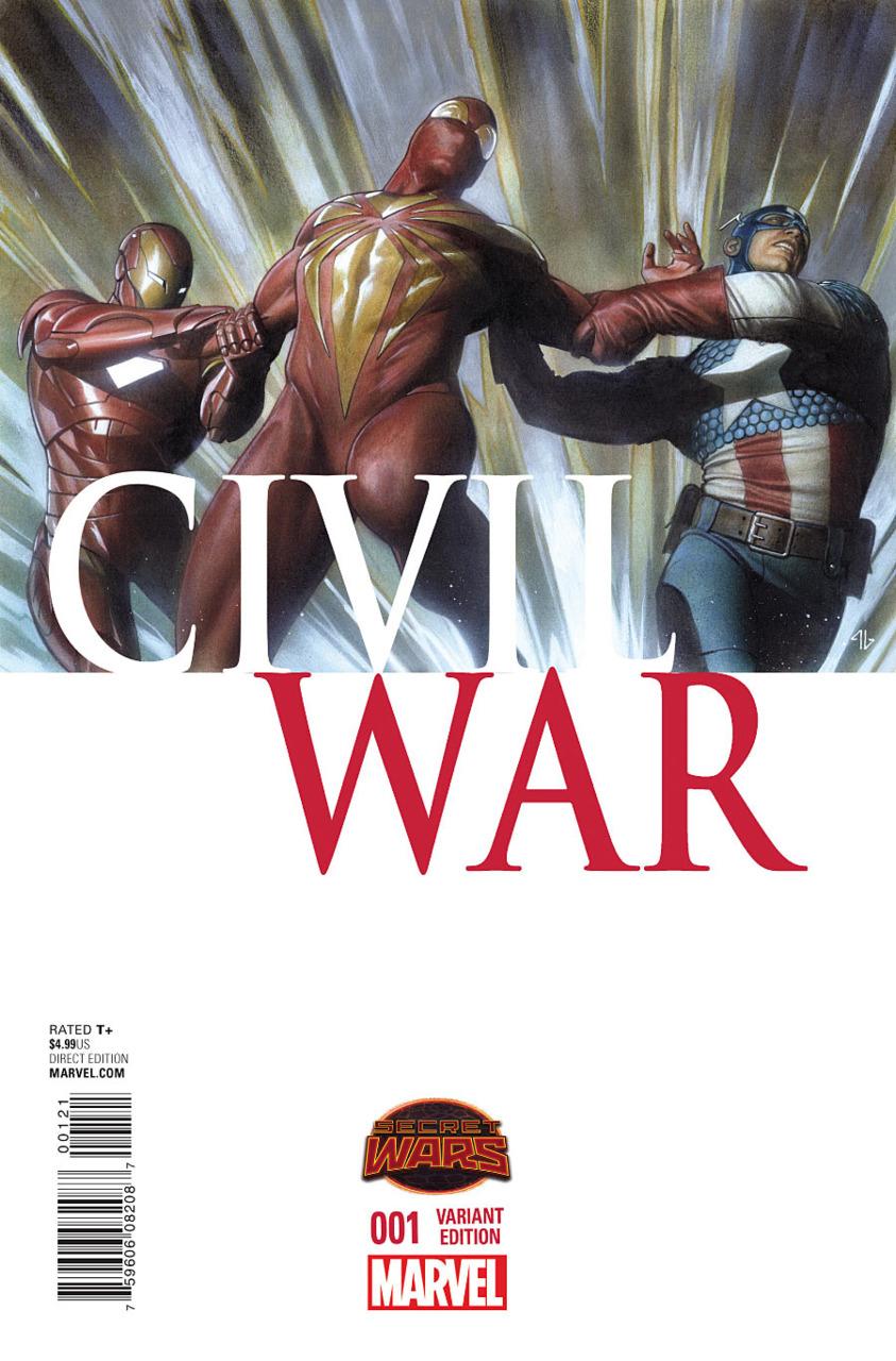 comic book fan and lover: secret wars: civil war # 1 – marvel comics