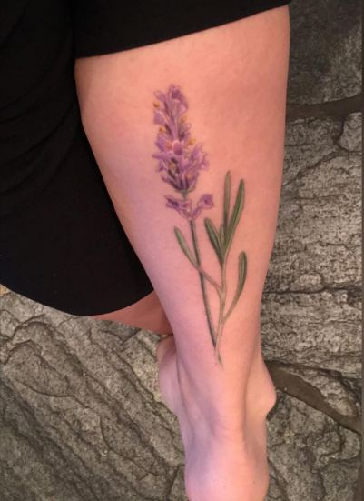 f5b9115d04cf4 50+ Best Lavender Tattoo Designs (2019) Flower, Sprig | TattoosBoyGirl