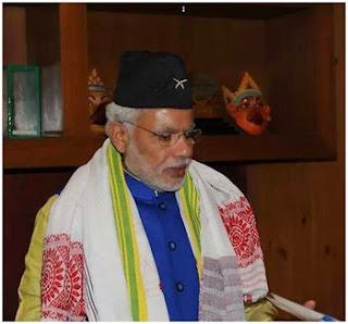 PM Narendra Modi in Gorkha cap