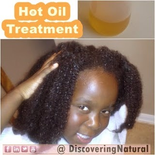 Doing Hot Oil Treatments for Dry Natural Hair