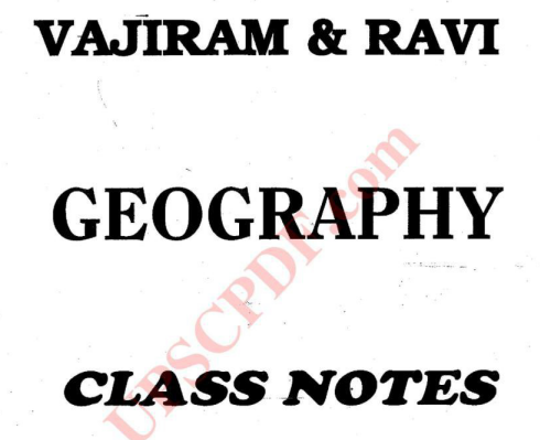Vajiram and Ravi Geography Handwritten Notes 2018 PDF - VISION