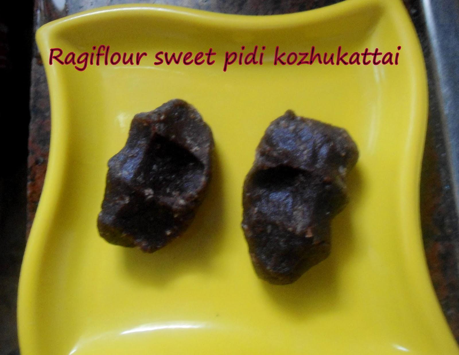 Ragi flour pidi kozhukattai(sweet)