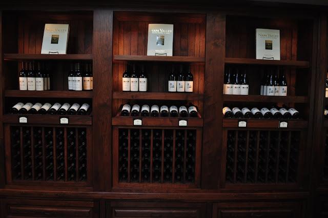 Mondavi wine tasting experience napa valley wine rack