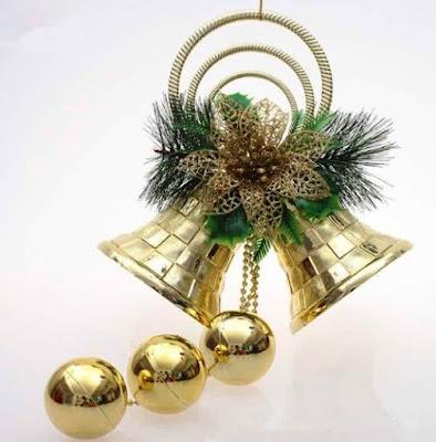 Contoh Hiasan Natal Berbentuk Lonceng