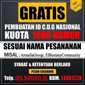 Jasa Aktivasi CUG ID Nasional Murah