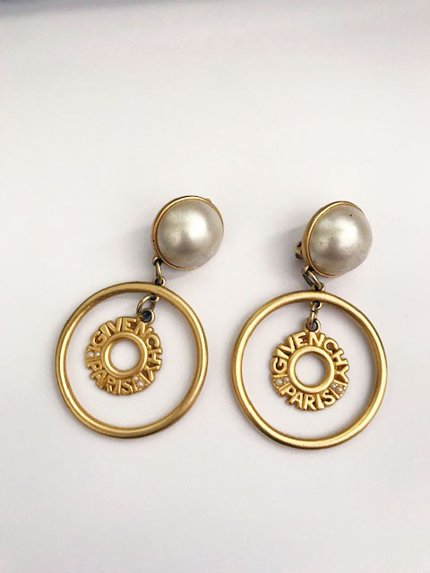 thrift tips, vintage givenchy earrings, vintage designer jewelry